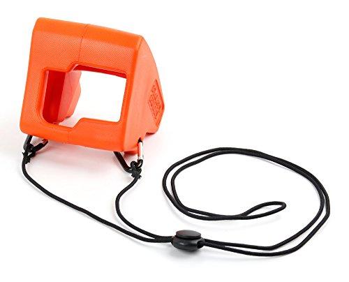 DURAGADGET Galleggiante Arancione + Cordino per Action Camera TecTecTec XPRO2 | ThiEYE T5e | Vemico | Vemico 4K | Victure | WiMiUS L1
