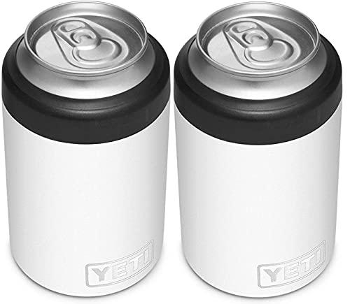 YETI Rambler 12オンス コルスター缶断熱材 標準サイズの缶用 ホワイト 2個
