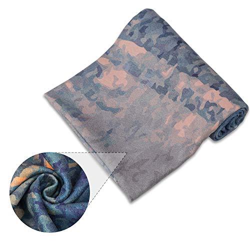 PIDO Yoga Handtuch Exklusive Ecktasche Umweltfreundlich Bedruckte Yogamatte Mikrofasertuch Keine rutschfest für Hot Yoga Bikram Ashtanga und Pilates Free Carry Bag (Huanxing)