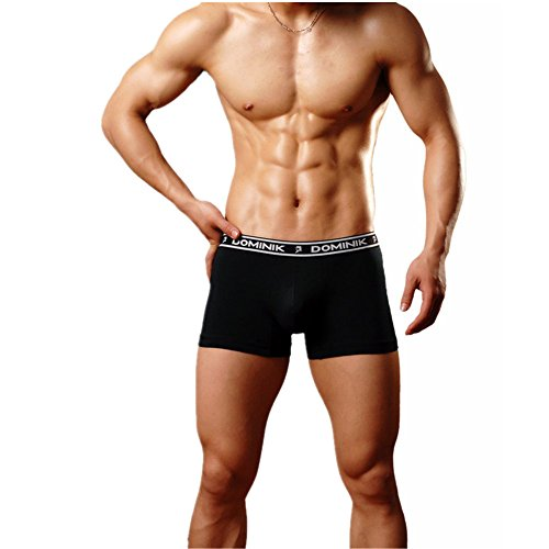 Dominik Men's Underwear Breathable 95% Cotton 1 Colors Boxers Black Size X-Large