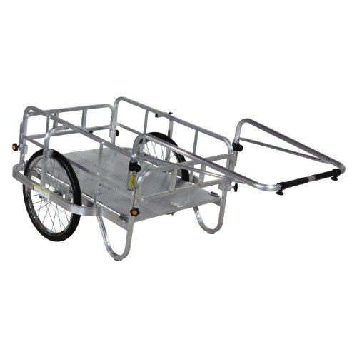 ハラックス コンパック アルミ製 折りたたみ式リヤカー HC-906N [ノーパンクタイヤ]