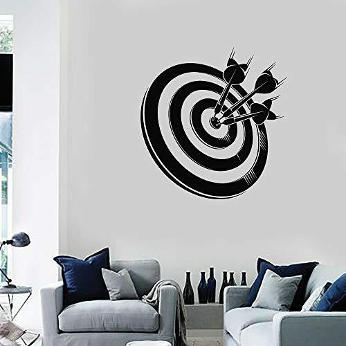 Dardos vinilo pared pegatina niño dormitorio juego de tiro al blanco deportes arte pegatina Mural extraíble pegatina de fondo A1 42X43CM