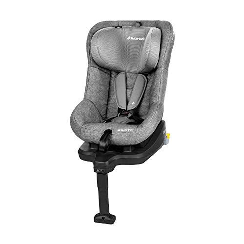 Maxi-Cosi TobiFix Kinderautositz mit Isofix und fünf komfortablen Sitz und Liegepositionen, Gruppe 1 Autositz, Nutzbar ab 9 Monate bis 4 Jahre, nomad grey (grau) 9-18 kg