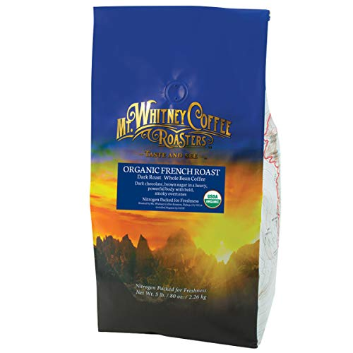 Organic French Roast Dark Roast Coffee Whole Bean 5lb