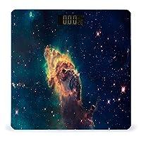 星と空の銀河 LCDディスプレイ付き高精度スマートフィットネススケール体重デジタルバスルームボディスケール
