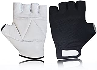 Kango Fitness Mesh Leather Padded Riding Training Cycling All Sports Gloves W-1057