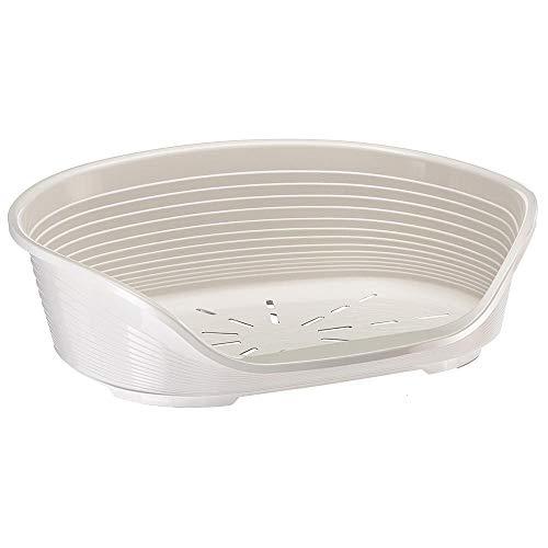 Ferplast Cuccia in Plastica per Cani e Gatti, SIESTA DELUXE 6, 70.5 X 52 X H 23.5 cm, Bianco (White)