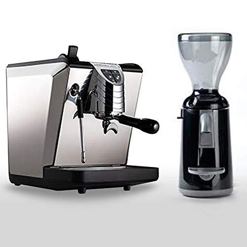 Combo Set Nuova Simonelli Espressomaschine Oscar II schwarz, Kaffemühle Grinta AMMT Made In Italy