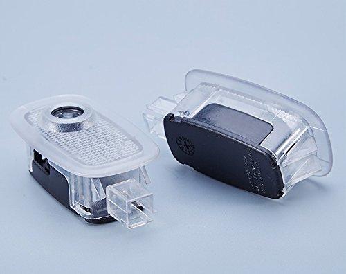 Willkommens Lampe, KVCH 1 Paar LED-Höflichkeits-Lichter Einfache Installation Autotür Laser Projektor Logo drahtlose Geist Schatten Lichter für BENZ S (W221) mit Tür-Polsterungs Entferner