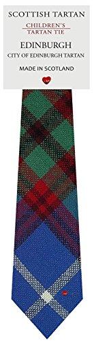 I Luv Ltd Garçon Tout Cravate en Laine Tissé et Fabriqué en Ecosse à Edinburgh City Tartan