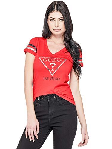 GUESS Factory Women's Las Vegas City V-Neck Short-Sleeve Varsity Tee