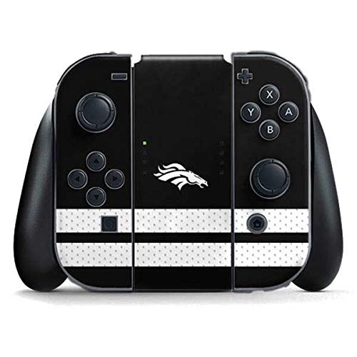 Skinit Decal Gaming Skin Compatible with Nintendo Switch Joy Con Controller - Officially Licensed NFL Denver Broncos Shutout Design