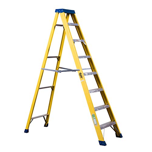 DJM Direct Electricians Heavy Duty Tread EN131 Fibreglass Step Ladder 30000v - 8 Tread