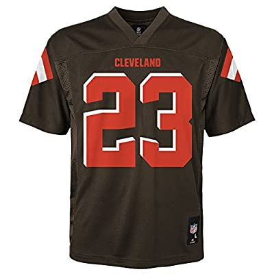 NFL Cleveland Browns Youth Outerstuff Team Color Player Fashion Jersey, Brown Suede, Youth Medium (10-12)
