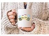 N\A Le api Amano la Tazza. San Valentino. Coppa Romantica. Regalo per Lui. Presente per lei. Divertente Romantico. Ti Amo Tazza. Api innamorate. Regalo di Natale