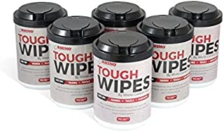 Heavy Duty Hand Wipes - Waterless Hand Cleaner Wipes for Tools, Epoxy Removal, Adhesive, Grease, Ink, Dirt & Many More Surfaces - Antibacterial Cleaning Wipes(Pack of 6)