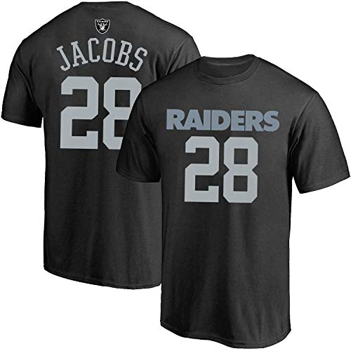 Outerstuff NFL Youth 8-20 Alternate Polyester Performance Mainliner Player Name and Number Jersey T-Shirt (Josh Jacobs Las Vegas Raiders Gray Alternate, 10-12)