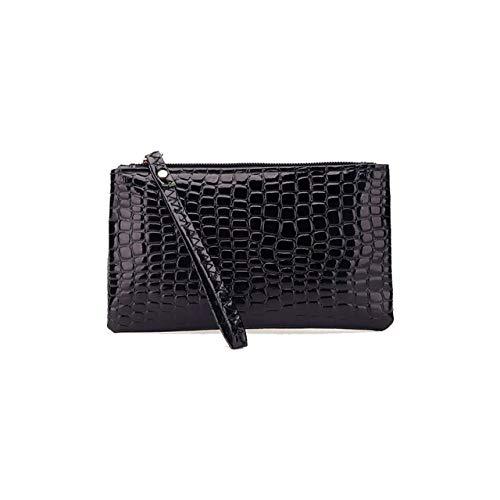 Mdsfe Damen Krokodilleder Handtasche Umhängetasche große Kapazität Einkaufstasche - Brieftasche