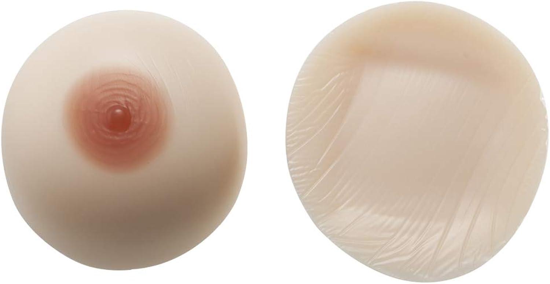 Breast Prosthesis False Boobs Medical Silicone Breast Fake Breasts Full Boob 1 Pair Round Breast,WhiteSkinNotStickyL1.8Lb Pair