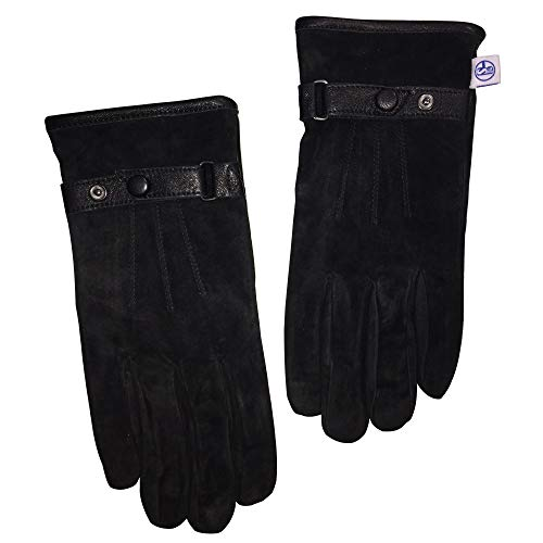 Lederhandschuhe Schalke 04 kompatibel + Sticker Gelsenkirchen Forever Handschuhe, Gloves, guantes, gants (L)