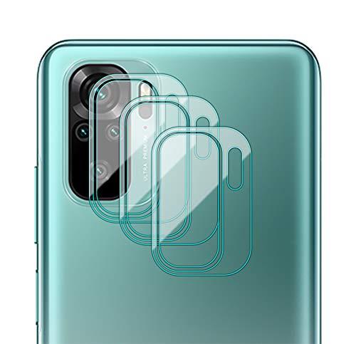 GIOPUEY Protector Cámara para Xiaomi Redmi Note 10 4G/Note 10S, [3 Pack] Protector de Pantalla Cámara, 2.5D Película de Protección de Vidrio Templado Resistente a Los Arañazos - Transparente