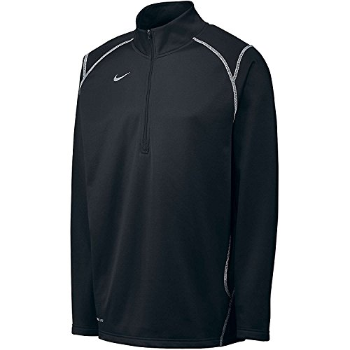 Nike Men's Thermafit Quarter Zip Pullover Sweatshirt, Color Options (SML, Blk/Wht)