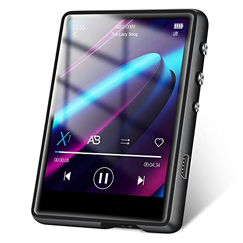 """32GB MP3 Player, MECHEN Portable Digital Music Player with Bluetooth 5.0 FM Radio, Recording, 2.4"""" Screen, HiFi Lossless Sound, Support up to 128GB (MC-M3-02)"""
