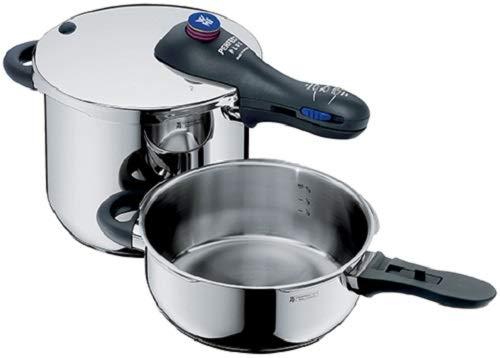 WMF Perfect Plus - Set con olla rápida de 22 cm de diámetro de 8,5 litros y cuerpo de 4,5 litros con cestillo apto para inducción