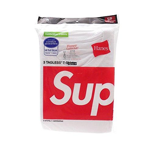 [Mサイズ] SUPREME(シュプリーム) x Hanes(ヘインズ) Tagless Tee 3-pack (Tシャツ3枚セット) WHITE 200-005622-040 【新品】 [並行輸入品]
