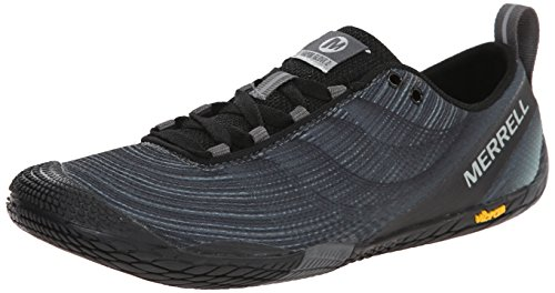 Merrell Women's Vapor Glove 2 Trail Running Shoe, Black/Castle Rock, 8.5 M US