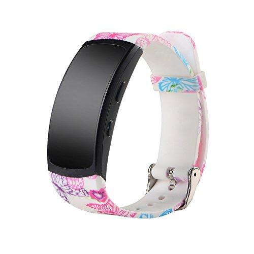CUCUDAI Pulseira de relógio de pulso, pulseira de relógio de silicone esportiva moderna para Gear Fit 2 SM-R360 Pro-2