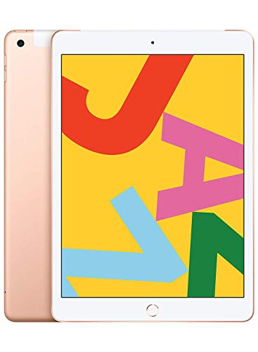 Apple iPad 10.2 (7th Gen) 128GB Wi-Fi + Cellular - Gold - Unlocked (Renewed)