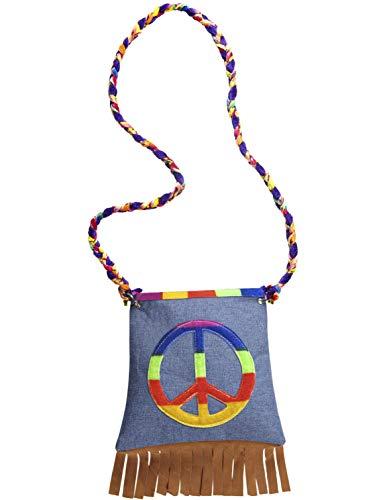 Atosa – rabat sac hippie multicolore franges