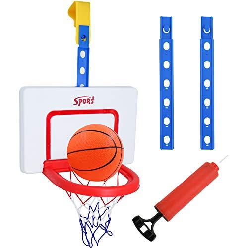Hyselene Basketballkorb Kinder Indoor Outdoor, Einstellbar Basketballkorb fürs Zimmer mit Ball und Bälle Pumpe, Sportspielzeug für Jungen Mädchen 3+ Jahre Alt