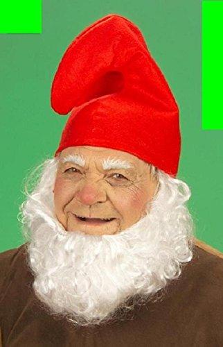1 x Zwergenmütze Kinder Erwachsene Mütze rot Zwerg Fastnacht Fasching Karneval fürs Kostüm Schlumpf Kindermütze für KOPFUMFANG ca. 57 cm - LxB ca. 29 cm x 28,5 cm Gnom Wichtel Verein Gruppe Umzug