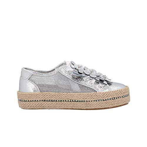 CAFèNOIR Sneakers Donna DG926 Argento in rete e Fiori 37