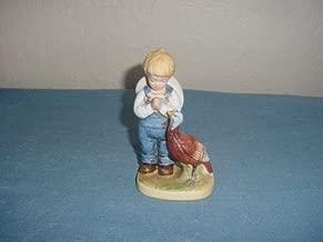 Homco Denim Days Figurine Boy with Turkey