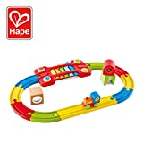 Hape International- Sensory Railway Pista Treno Primi Sensi, Multicolore, Taglia Unica, E3822