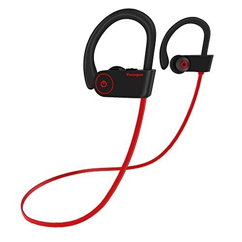 Cuffie Wireless Sport IPX7, Yuanguo Auricolari Bluetooth 5.0 Stereo(sostegno HSP, HFP, A2DP, AVRCP) Qualità CD Qudio Impermeabile Headset Sportive con Microfono per iPhone, Android, iPod&iPad