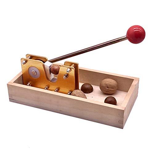 MOVKZACV Cascanueces manuales, máquina de pelar cáscara, abridor de macadamia resistente con mango de metal, pinzas de tuerca, herramienta abierta de nueces de cocina