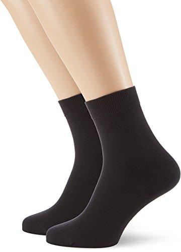 Hudson Damen Socken, 025011 Only, 2er Pack, Gr. 39/42, Schwarz (Black 0005)