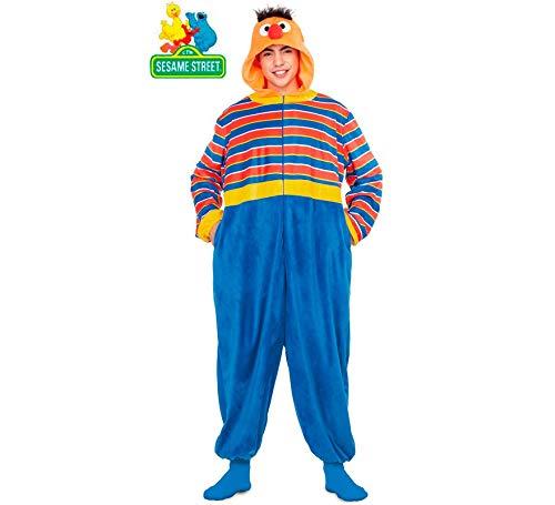 Barrio Sésamo Disfraz Pijama de Epi para Adultos