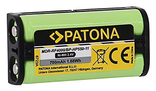 Patona 6723 - Batería de repuesto para Sony BP-HP550-11 (700 mAh) compatible con MDR-RF4000 MDR-IF245RK - Medion MDR-PF970RK etc.