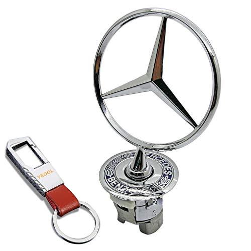 YEOOL - Emblema de estrella para capó, diseño de estrella para el capó del coche A2108800186