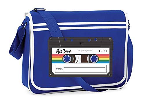 Druckerlebnis24 Schultertasche - Kassette Vintage Musik Tonkassette - Umhängetasche, geeignet für Schule Uni Laptop Arbeit