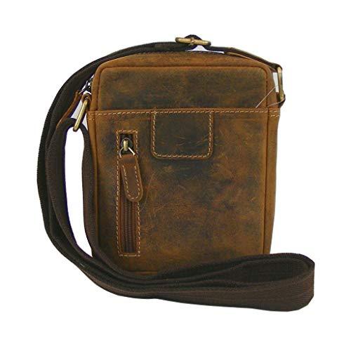 HGL Hunter Leder natur Unisex Tasche Umhängetasche Echt-Leder Handyfach 18749