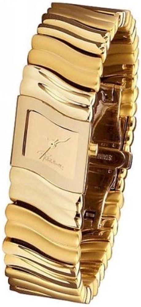 Roberto cavalli,orologio per donna,in acciaio inossidabile,placcato oro 7253196017