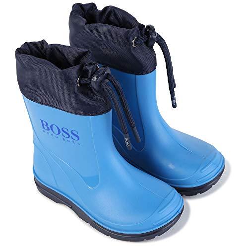 BOSS Jungen Gummistiefel Baby Regenstiefel Stiefel J09132 blau (Numeric_23)