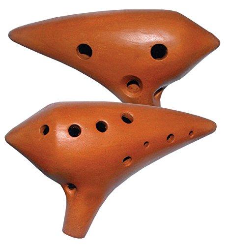 Konzert Ocarina Alt von C5 bis F6 Okarina 15,5 cm professionell Flöte Pfeife für Fortgeschrittene traditionell Mund Musik Peru Klang Percussion Weltmusik