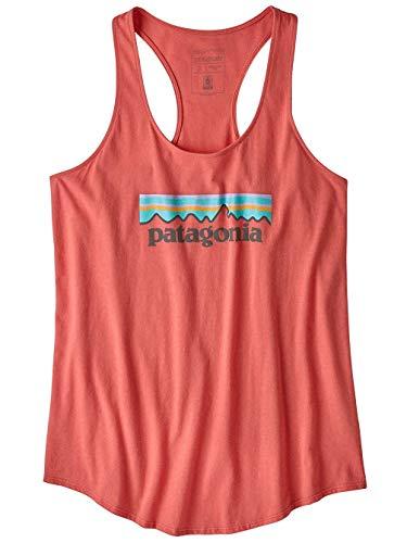 Patagonia Damen W's Pastel P-6 Logo Organic Tank Hemd, Korallenfarben (Spiced Coral), S